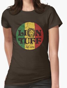 Lion Tuff VNTG CRCL Womens Fitted T-Shirt