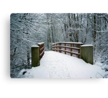Bridge between white worlds Canvas Print