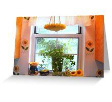 Kitchen windowsill  ^ Greeting Card