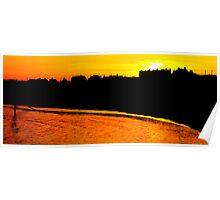 Gorleston Sunset Silhouette Poster