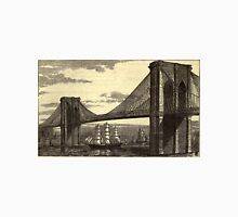 Vintage Illustration of The Brooklyn Bridge (1879) Unisex T-Shirt