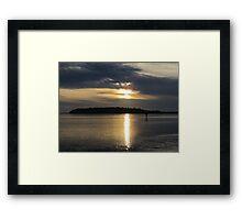 Sunset Before the Storm Framed Print