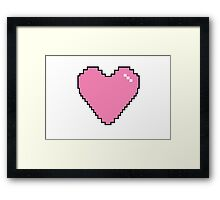 Light Pink Pixel Heart Framed Print