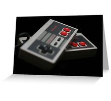 Nintendo Controllers Greeting Card