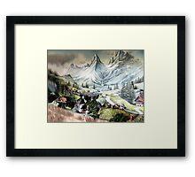 ⊱✿ ✿⊰⊹SWISS MOUNTAIN SIDE⊱✿ ✿⊰⊹ Framed Print