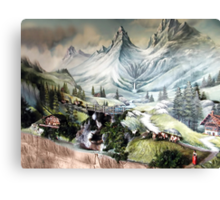 ⊱✿ ✿⊰⊹SWISS MOUNTAIN SIDE⊱✿ ✿⊰⊹ Canvas Print