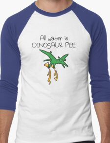 All Water Is Dinosaur Pee (Pterodactyl) Men's Baseball ¾ T-Shirt