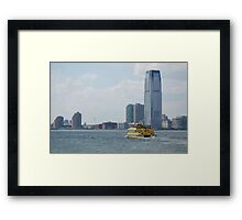 Water Taxi NYC Framed Print