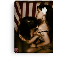 Rockabella kiss 3 Canvas Print