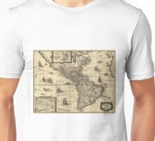 Vintage Map of North and South America (1640) Unisex T-Shirt