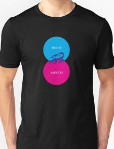Honey Badger Venn Diagram Unisex T-Shirt