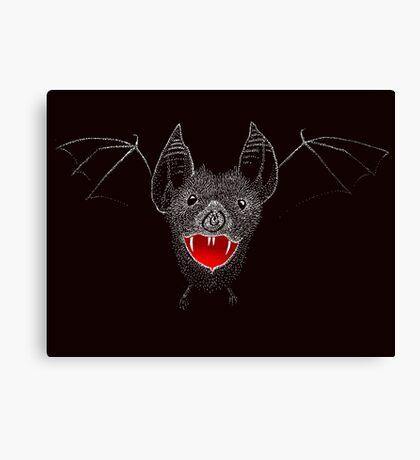 Flying Vampire Bat likes you a lot Canvas Print