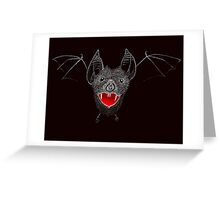 Flying Vampire Bat likes you a lot Greeting Card