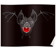 Flying Vampire Bat likes you a lot Poster