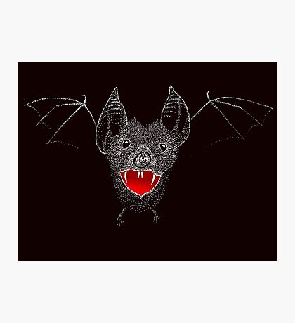 Flying Vampire Bat likes you a lot Photographic Print