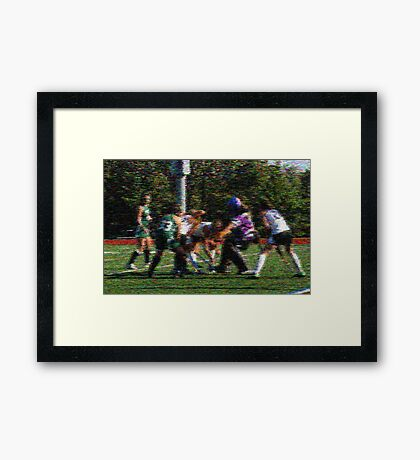 100511 070  expressionist field hockey Framed Print