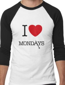 I Love Mondays- Castle Men's Baseball ¾ T-Shirt