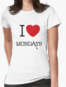 I Love Mondays- Castle Womens Fitted T-Shirt