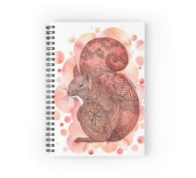Zentangle Red Squirrel with Bubble Background Spiral Notebook
