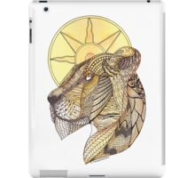 Zentangle Lioness With The Sun iPad Case/Skin