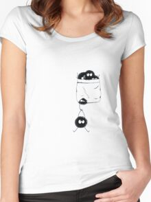 Pocket dust Women's Fitted Scoop T-Shirt