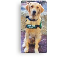 """Guide Dog Puppy"" Canvas Print"