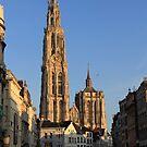Sun and City light - Antwerp by Gilberte