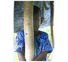 Local boy, Port Vila, Vanutatu Poster