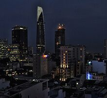 Vietnam Saigon Ho Chi Minh City by night  by MARKATMELB