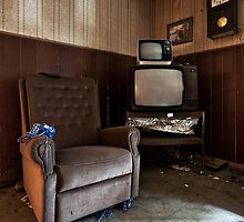 Ghosts watching TV by Jean-Claude Dahn