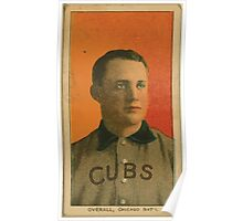 Benjamin K Edwards Collection Orval Overall Chicago Cubs baseball card portrait 001 Poster