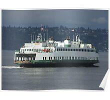 Washington State Ferry Klahowya in Puget Sound Poster