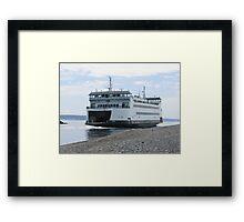 Washington State Ferry Salish  Framed Print