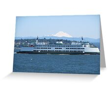 Washington State Ferry Kittitas and Mt. Baker Greeting Card