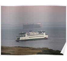 Washington State Ferry Chetzemoka arriving Keystone Poster
