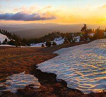 Sunset at Crater Lake, Oregon, USA by Jennifer Bailey