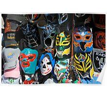 wrestling masks Poster