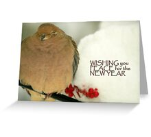 New Year Dove Greeting Card