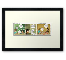 """Zebra-corn mini #10- """"Chili and Lime"""" Framed Print"""