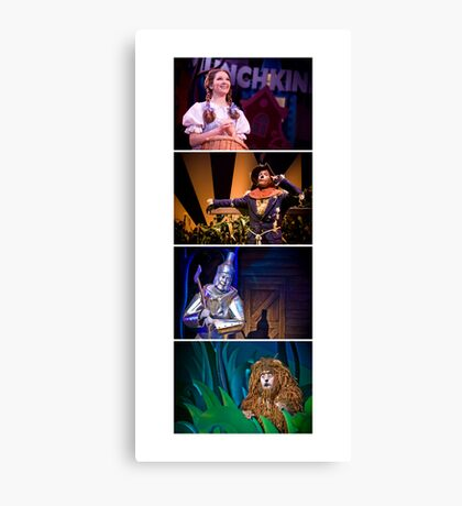 Off To See The Wizard-Four Friends Canvas Print