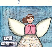 Angel Christmas Card by Janine Whitling