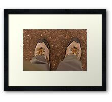 Bright Yellow Lases. Framed Print