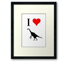 I Love Dinosaurs - Therizinosaurus Framed Print
