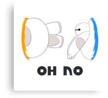 Oh No Baymax failed teleport Canvas Print