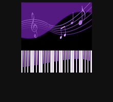 Black & Purple Musical Melody Womens Fitted T-Shirt