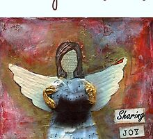 Christmas Card Angel by Janine Whitling