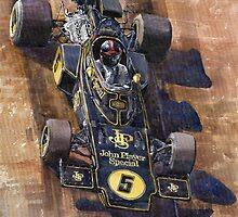 Lotus 72 D Spanish GP 1972 Emerson Fittipaldi winner by Yuriy Shevchuk