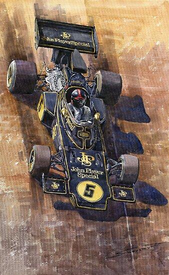Lotus 72 D Spanish GP 1972 Emerson Fittipaldi winner by Yuriy Shevchuk