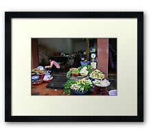 """Vietnamese Kitchen"", Ho Chi Minh City Framed Print"