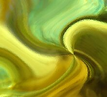 CHARTREUSE SERIES Abstract VII by Ginny Schmidt